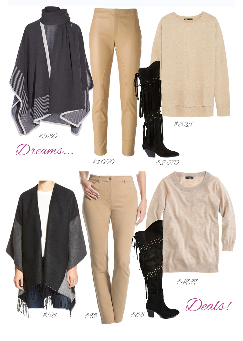Big Dreams, Real Deals - Affortable Fashion by style blogger AnnRobieFashion: Poncho and Over the knee boots outfit