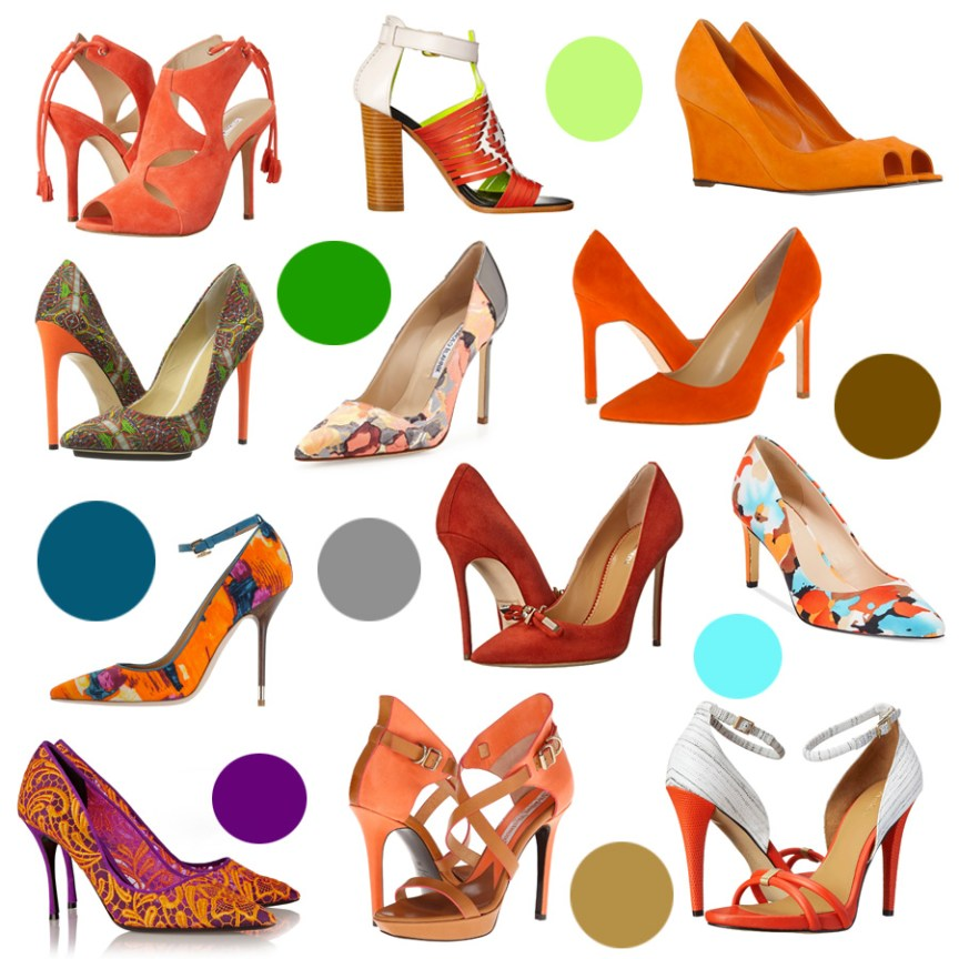 Pumpkin pumps - the best orange heels for fall 2015 by style blogger AnnRobieFashion
