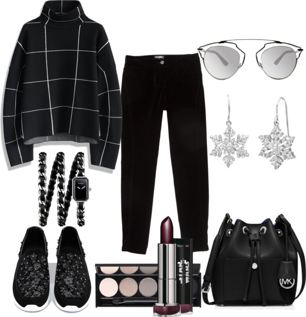 What to wear with the sneakers: black pants, black turtleneck oversized sweater, Zara leather sneakers with floral details - outfit by style blogger AnnRobieFashion