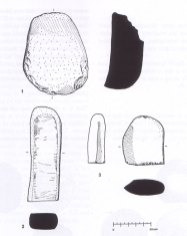 These tools exhibit grinding on one face - they were most likely used to process or shape other materials.