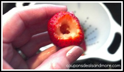 How To Hull a Strawberry. Step by step instructions on how to hull a strawberry for cooking, baking and eating.