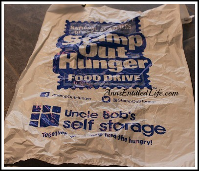 Stamp Out Hunger Donations Tomorrow