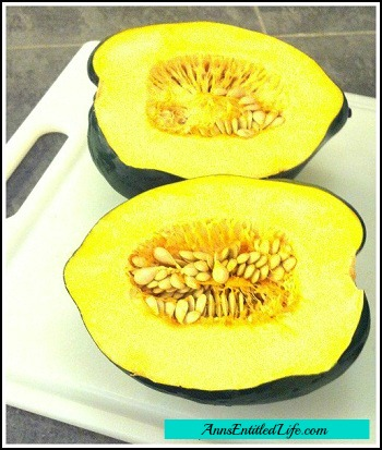 How To Cut Open An Acorn Squash