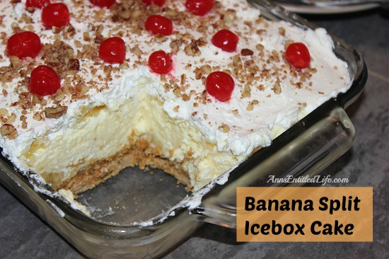 Banana Split Icebox Cake Recipe: Indescribably smooth and delicious. This is like no other Banana Split Icebox Cake you have had before!