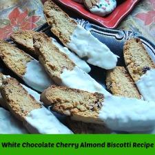 White Chocolate Cherry Almond Biscotti Recipe