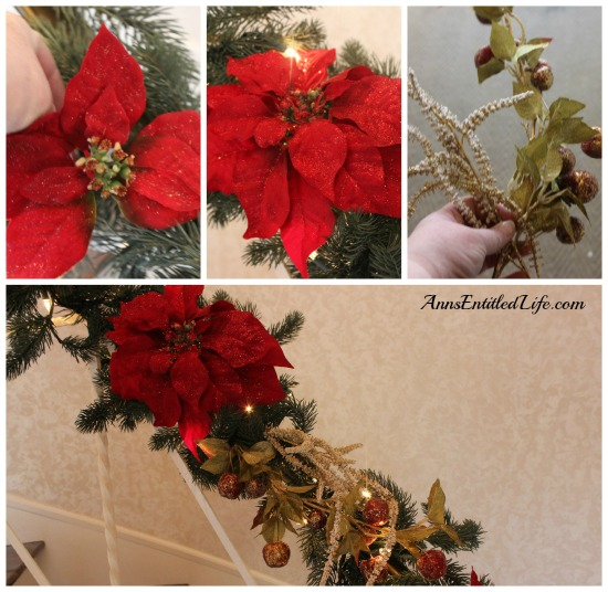Decorating A Banister For The Holidays