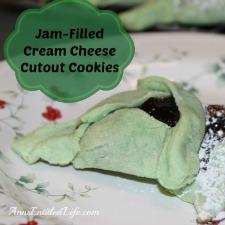 Jam Filled Cream Cheese Cutout Cookie Recipe