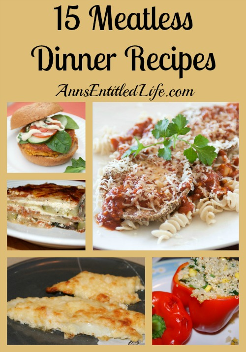 15 Meatless Dinner Recipes. Looking for a Lenten recipe? Vegetarian dinner dishes? Here are 15 Meatless Dinner Recipes for your culinary enjoyment!