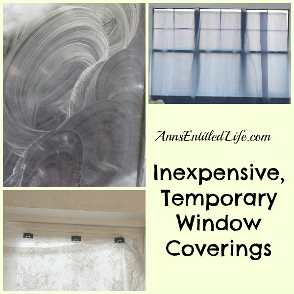 Inexpensive, Temporary Window Coverings. Moving? Installing new windows? Renovating your house? These Inexpensive, Temporary Window Coverings  are an easy way to get privacy on the cheap!