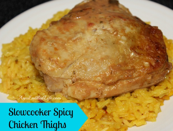 Slowcooker Spicy Chicken Thighs; This Slowcooker Spicy Chicken Thighs recipe is an easy to prepare, has a bit of a bite with many interesting flavors. The thighs are tender and juicy when done.