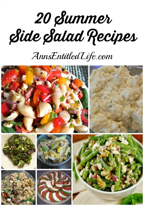 20 Summer Side Salad Recipes. To round out your summer table, serve one these beautiful and delicious make-ahead 20 summer side salad recipes with burgers, hot dogs, grilled salmon or steaks - a perfect compliment to your favorite summer meal.