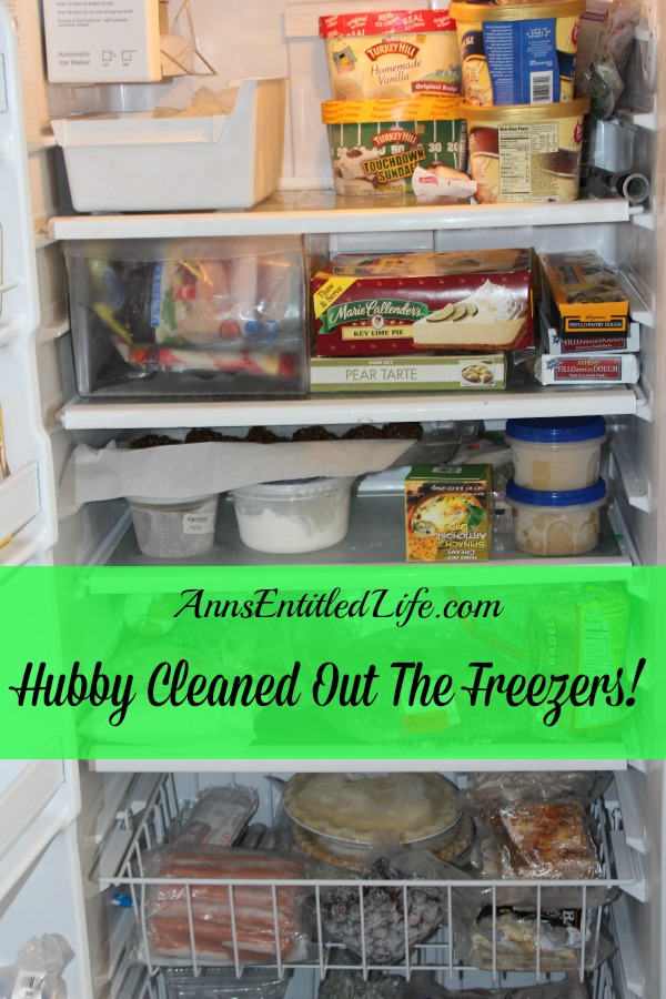 Hubby Cleaned Out The Freezers!