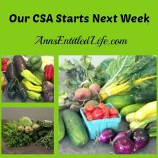 Our CSA Starts Next Week