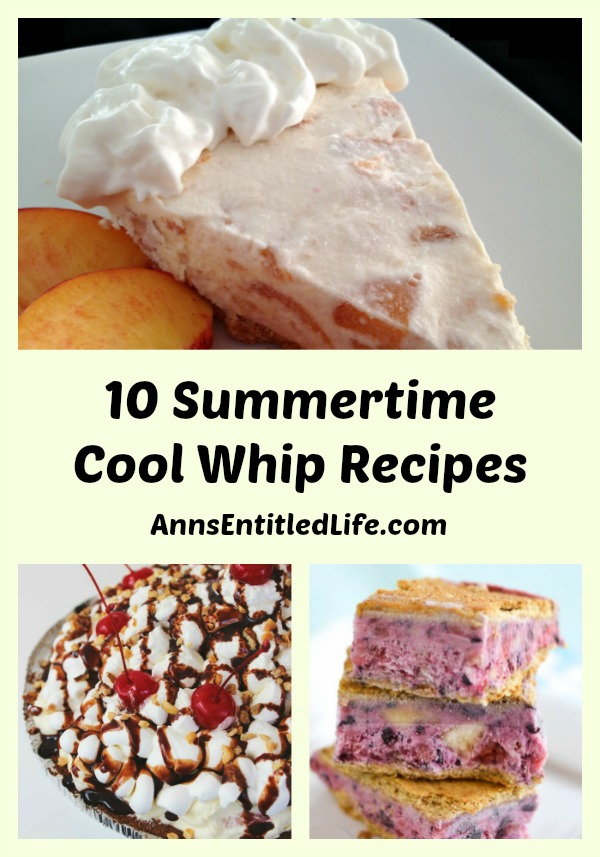 10 Summertime Cool Whip Recipes. Find your dessert inspiration with the light and tasty sweetness of these 10 Summertime Cool Whip Recipes! Every creamy bite is made for sharing during the hot days of summer when a cool dessert is just what you are craving.