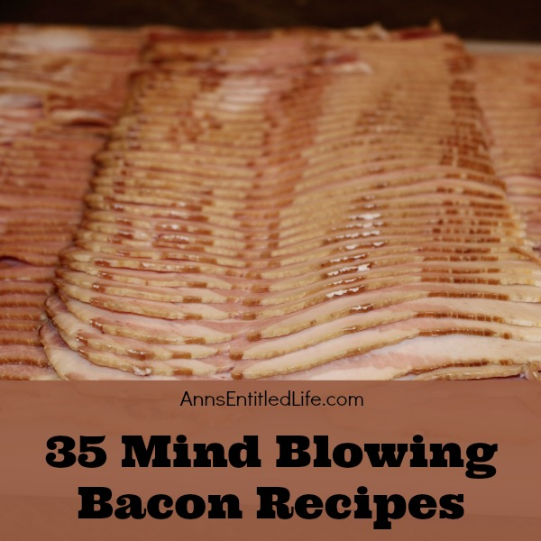35 Mind Blowing Bacon Recipes. Bacon Makes Everything Better: bacon isn't just for breakfast anymore! From bacon roses to bacon cupcakes to bacon pancakes, these sweet and savory bacon lunch, dinner and dessert recipes are simply mind blowing!