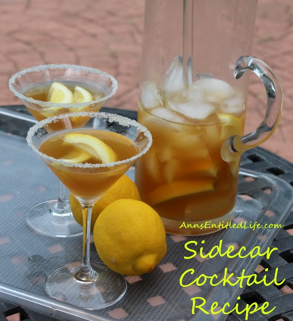 Sidecar Cocktail Recipe. The Sidecar, a classic cocktail of Cognac, Cointreau and lemon juice that dates back to the turn of the 20th century.