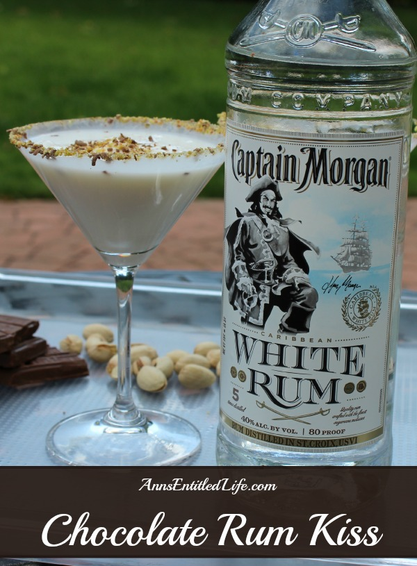 Chocolate Rum Kiss. A creamy, smooth and delicious rum cocktail featuring Captain Morgan White Rum. This Chocolate Rum Kiss Cocktail is a decadent drink that makes any occasion special.