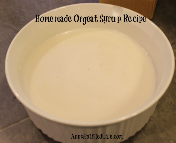 Homemade Orgeat Syrup Recipe