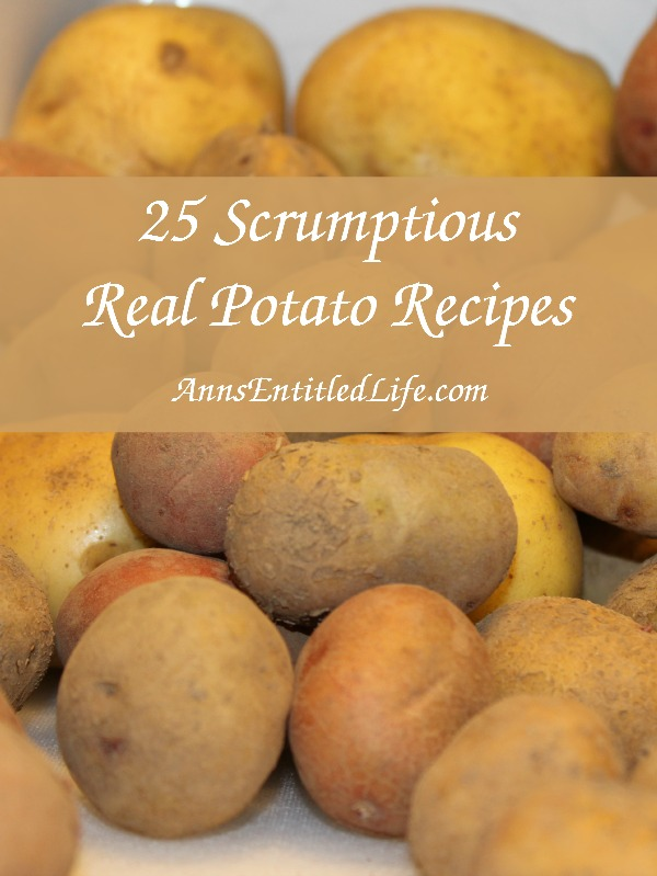 25 Scrumptious Real Potato Recipes. Smashed, mashed, scalloped or fried; enjoy your spuds in bold and delicious new ways with these 25 Scrumptious Real Potato Recipes!