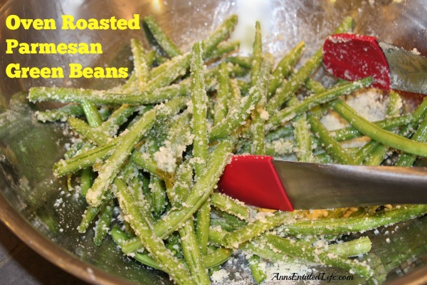 Oven Roasted Parmesan Green Beans