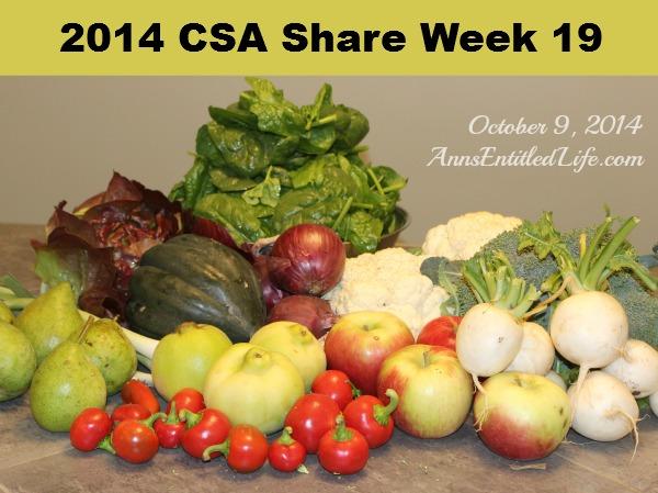 2014 CSA Share Week 19