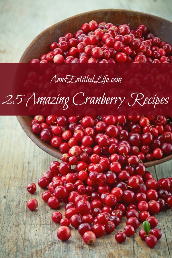 25 Amazing Cranberry Recipes;Cranberry recipes for breakfast, lunch and dinner; there is more to cranberries than just traditional sauce. Try one of these 25 Amazing Cranberry Recipes this holiday season!
