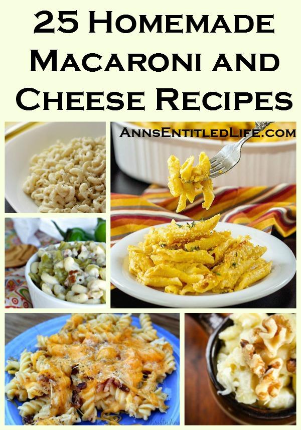 25 Homemade Macaroni and Cheese Recipes