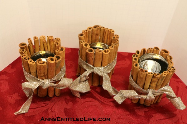 Christmas Craft: Cinnamon Stick Votives