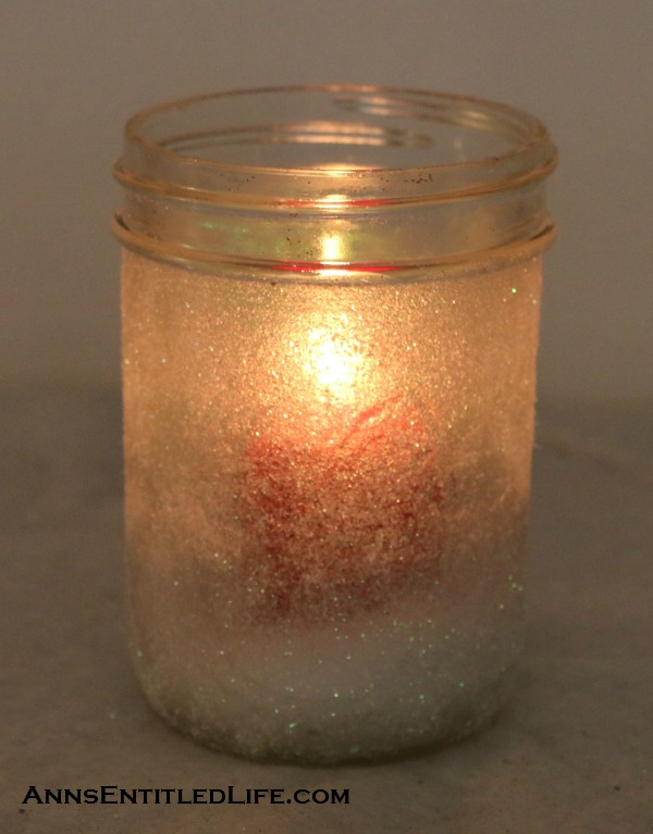 DIY Holiday Shimmer Candles. If you are looking for an easy holiday project, this is definitely one to investigate. I was pretty happy with both the lit, and unlit results, and if you try this project I think you will be too!