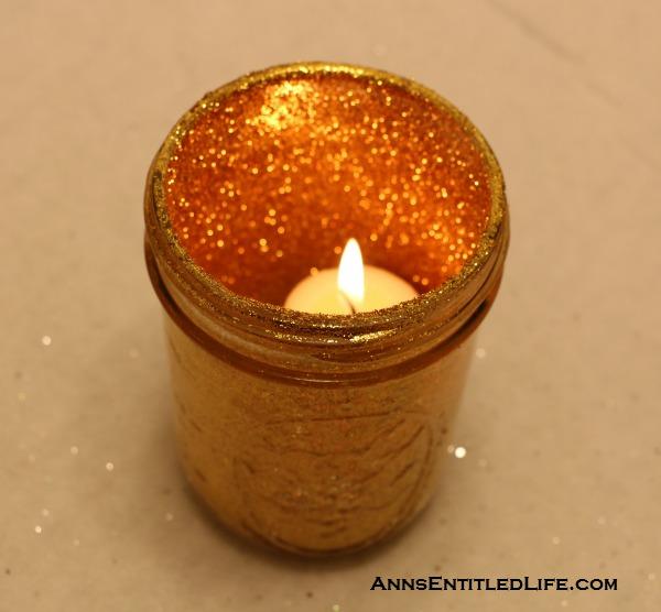 DIY Holiday Shimmer Candles