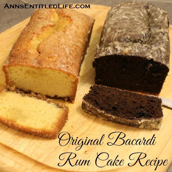 Original Bacardi Rum Cake Recipe. The Original Bacardi Rum Cake Recipe from the 1980s. This is one moist and delicious rum cake recipe!