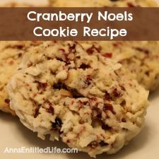 Cranberry Noels Cookie Recipe