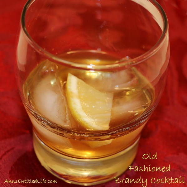 Old Fashioned Brandy Cocktail