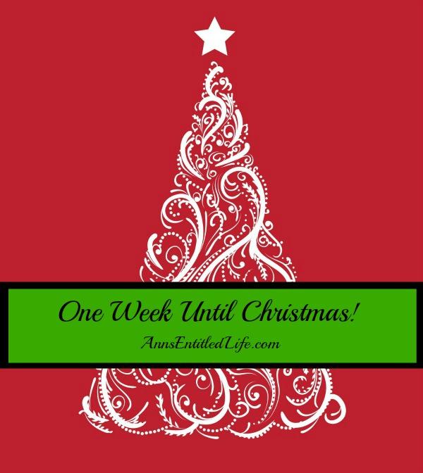 Christmas Is Next Week!