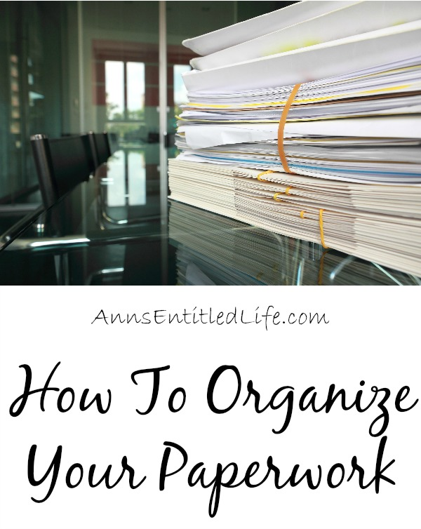 How To Organize Your Paperwork. Are you drowning in paperwork? Need a system to set your bills and correspondence straight? You are in luck! Here are some great ideas for organizing your paperwork!