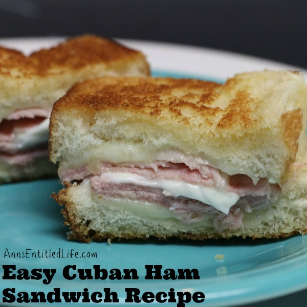 Cuban Ham Sandwich Recipe. An easy, quick and simple variation of the traditional Cuban Ham Sandwich Recipe. This is a great use of leftover ham.