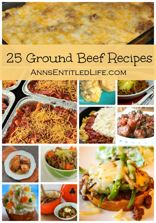 25 Ground Beef Recipes. Quick and easy ground beef recipes: Casseroles, Soups, Sandwiches, Stews and more. Try one of these fantastic 25 Ground Beef Recipes for dinner tonight.