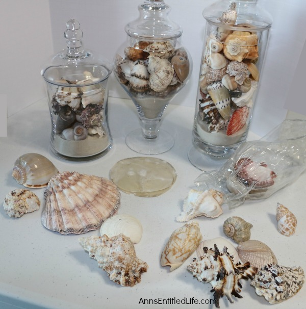 Apothecary Jars with Seashells