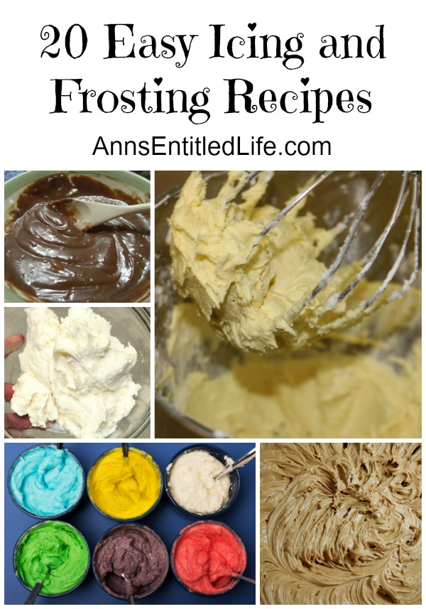 20 Easy Icing and Frosting Recipes. Whatever your definition, frosting and icing are a pretty sweet deal to finish off your cake, cookies or cupcakes to perfection! Here are 20 Easy Icing and Frosting Recipes. Choose one the next time you are looking for the perfect icing or frosting recipe to complete your sweet treat!