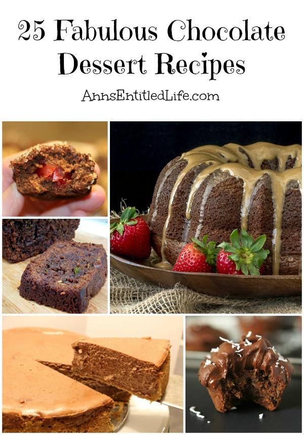 25 Fabulous Chocolate Dessert Recipes