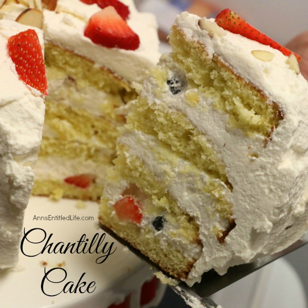 Chantilly Cake Recipe. A very rich, dense, yet moist and sweet Chantilly Cake. Perfect for a special occasion, holiday treat, or simply an after dinner dessert, this Chantilly Cake Recipe will delight your taste buds.