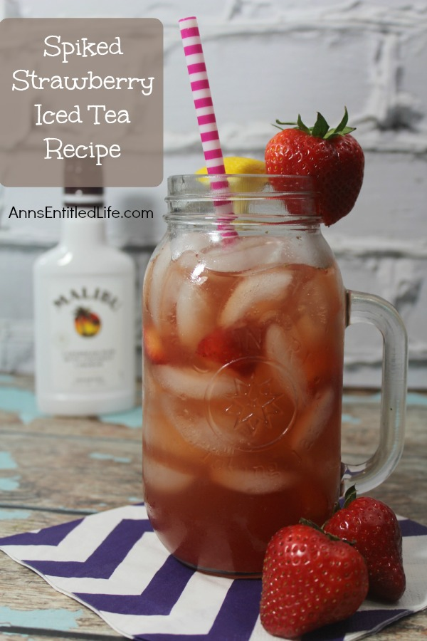 Spiked Strawberry Iced Tea Recipe. Refreshing homemade strawberry iced tea from scratch is kicked up a notch with the great taste of rum! Enjoy this delightful adult libation in your backyard, by the pool, or anytime the heat is on.
