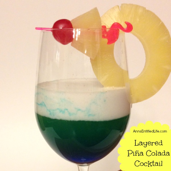 Layered Piña Colada Cocktail