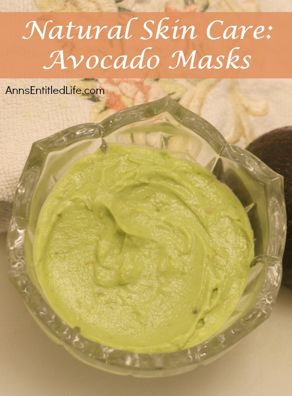 Natural Skin Care: Avocado Masks. Avocado skin care benefits, avocado face-mask recipes, and skin care tips and advice using avocados in your beauty routine. The natural beauty benefits of avocados.