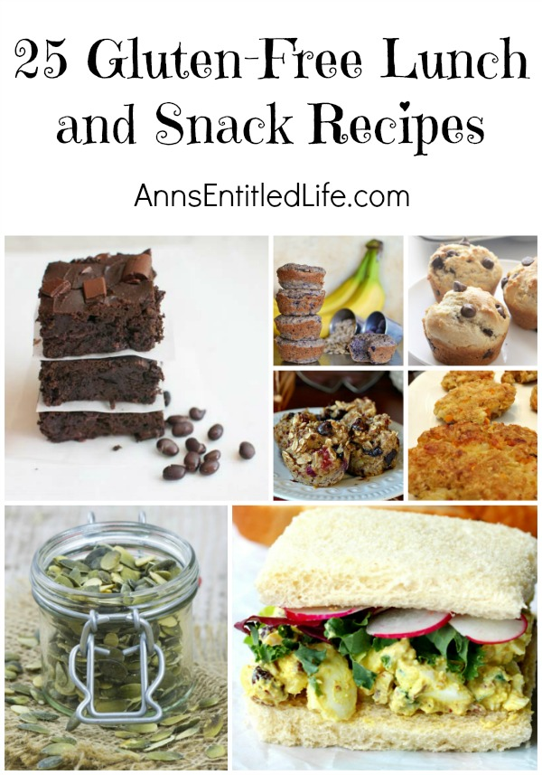 25 Gluten-Free Lunch and Snack Recipes. Gluten-free lunch recipes and snack recipes to eat at home, school, office or on the road. Eating gluten-free doesn't have to be a chore, especially when it comes to lunchtime. Remember, leftovers can be a perfect addition to any lunch box, especially when the lunch is also packed with fruits and nuts.