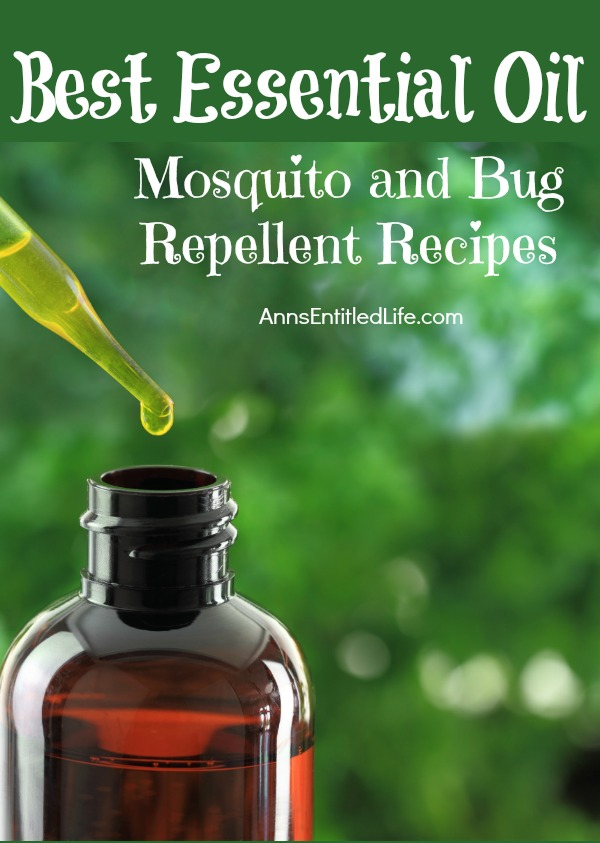 Best Essential Oil Mosquito and Bug Repellent Recipes. With beautiful warm weather comes the not so awesome side effects - insects. When you are trying to enjoy a summer picnic or a day by the river, the last thing you want to deal with are mosquitoes, flies, and other creepy crawly insects. Of course you can bring along a commercial insecticide spray, but sometimes you don't necessarily want to spray that on your skin. One of the best attributes of quite a few essential oils is their ability to ward off unwanted insects. Check out these easy pesticide recipes to keep the little buggers at bay.