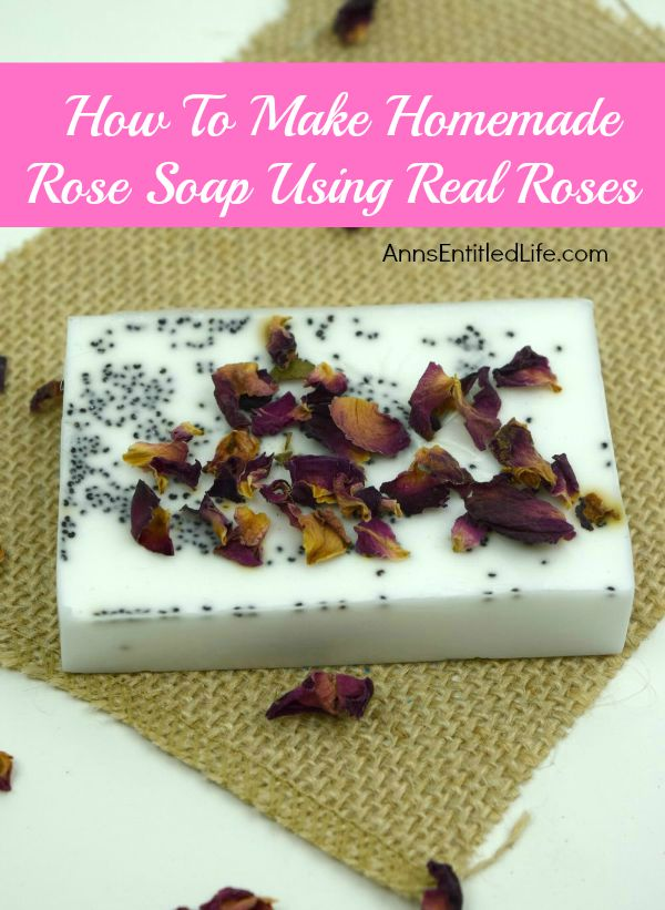 How To Make Homemade Rose Soap Using Real Roses; making homemade soap simpler than you would think. You control the ingredients, so you know exactly what is in the soap you are making and using. This homemade rose soap recipe incorporates some of the garden's most beautiful flowers roses!  Roses are purported to calm your mind and reduce your stress level via their aromatic fragrance. If you love roses, this homemade rose soap using real roses, try this homemade rose soap recipe.