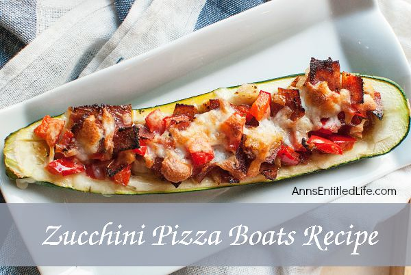Zucchini Pizza Boats Recipe; enjoy your pizza in a healthier new way by using a zucchini boat