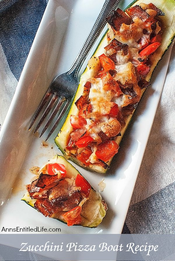 "Zucchini Pizza Boats Recipe. Enjoy your pizza in a healthier new way by using a zucchini boat ""crust"". Easy to make, these yummy zucchini pizza boats are a lower calorie option to traditional pizza."
