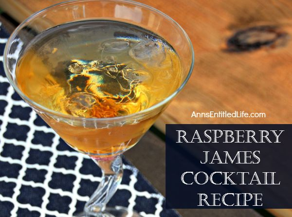 Raspberry James Cocktail Recipe; the perfect blend of fine whiskey and delicious raspberries make for a wonderful adult cocktail beverage. Smooth and slightly sweet, this Raspberry James Cocktail is simply delightful!